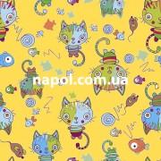 Ковер для детской Котенок желтый 2