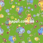 Детский ковер Котенок зеленый