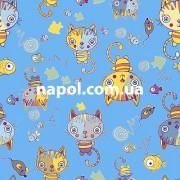 Детский ковер Котенок голубой