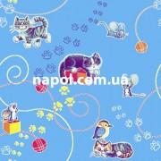 Детский ковер Кот и Мыша голубой