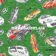 Детские коврики для мальчиков Иномарки зеленые