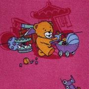 Детский ковер розовый FUNNY BEAR 66