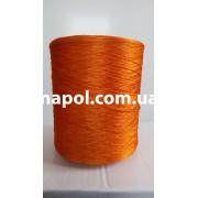 Нить для оверлока ковролина металлик оранжевый