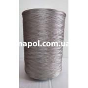 Нить для оверлока ковролина металлик светло-серый