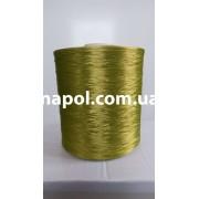 Нить для оверлока ковролина металлик оливковый