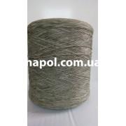 Нитки для оверлока ковров меланж бледно-зеленая