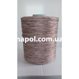 Нить для оверлока ковров меланж коричневый