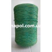 Нитки для оверлока ковров меланж зелено-желтый