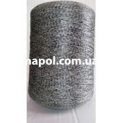 Нитки для коврового оверлока серая плямистая