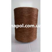 Нитки для оверлока ковров меланж коричневый