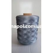 Нить для оверлока ковролина металлик голубой