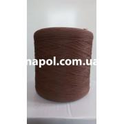 Нить для оверлока ковролина шоколадная