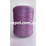 Нить для оверлока ковров меланж розово-синий
