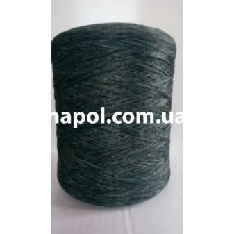 Нитка для оверлока ковров меланж зеленая