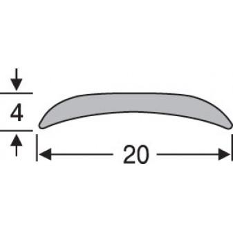 Порожек алюминиевый анодированный гладкий 20х4