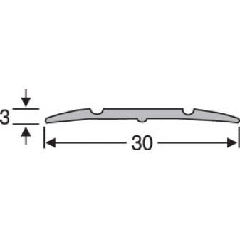 Порожки алюминиевые анодированные рифленые 30х3