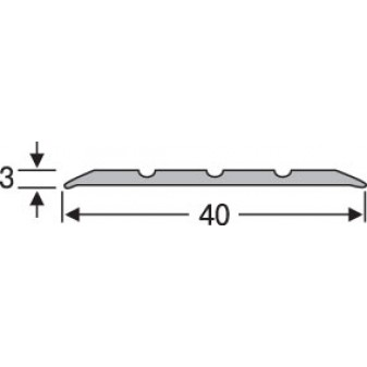 Порог алюминиевый анодированный рифленый 40х3