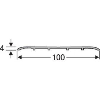 Порожек алюминиевый анодированный  гладкий 100х4