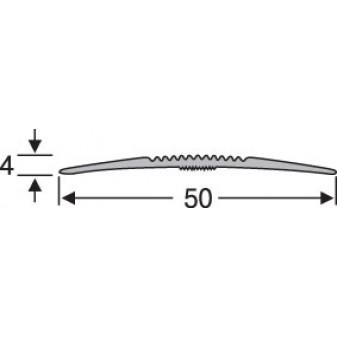 Порог алюминиевый анодированный  рифленый 50х4