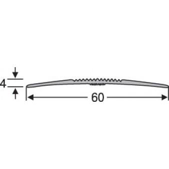 Порог алюминиевй анодированный рифленый 60х4