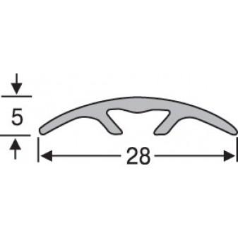 Порожек алюминиевый анодированный гладкий  28х5 (скрытый)